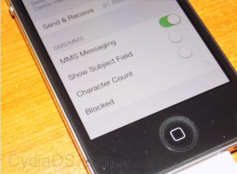 MMS sending failed iPhone 5s