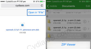 Install OpenSSH without Cydia