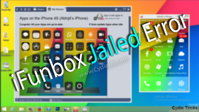 iFunbox Jailed Error iOS 7.1 Pangu Jailbreak