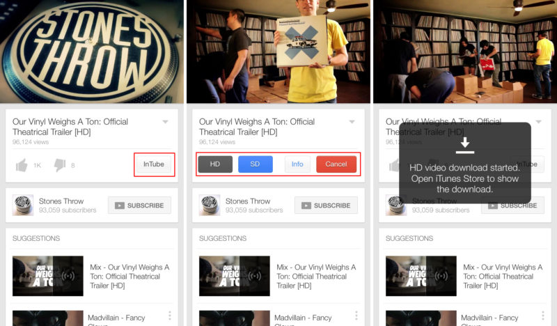 InTube iPhone YouTube Download -Cydia Tweak