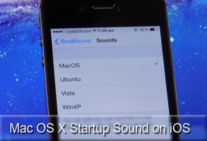 Add Startup Sound on iOS 7