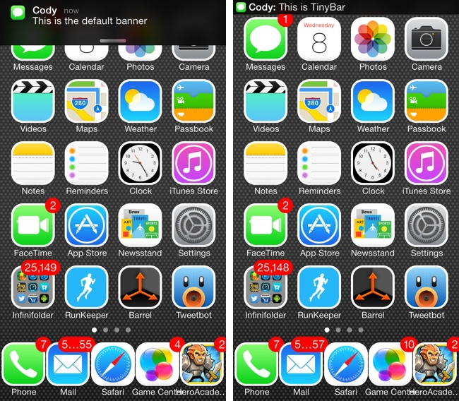 TinyBar free cydia tweak