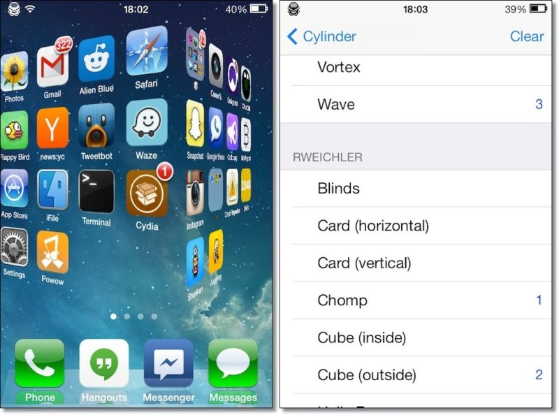 cylinder free cydia tweak