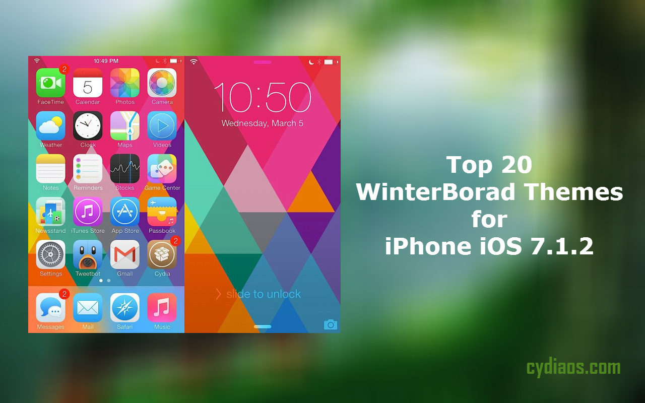 Best WinterBoard Themes for iOS 7.1.2