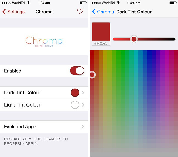 Chroma Free Cydia Tweak