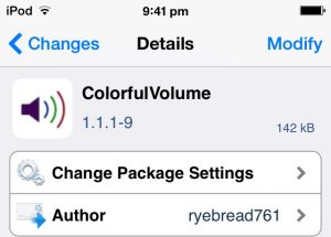 colorfulvolume free cydia tweak