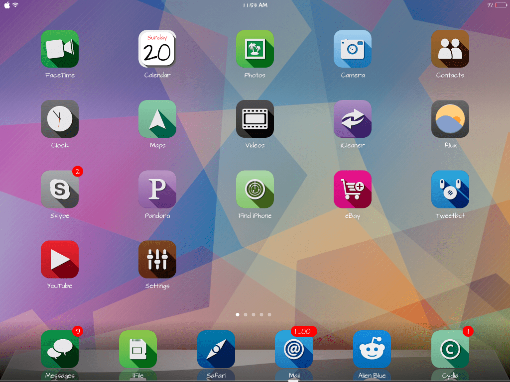 oxygen winterboard theme for ipad