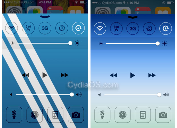 Change Control Center Background iOS 8