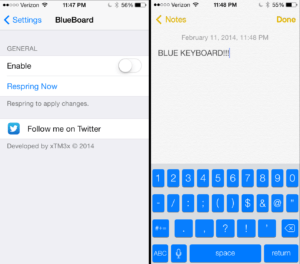 BlueBoard Tweak