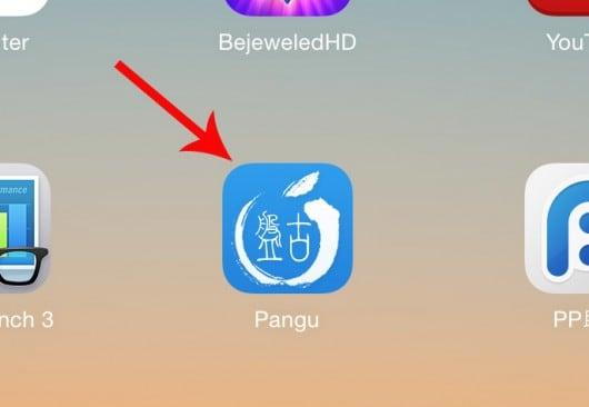 Pangu icon remains iOS 8.1