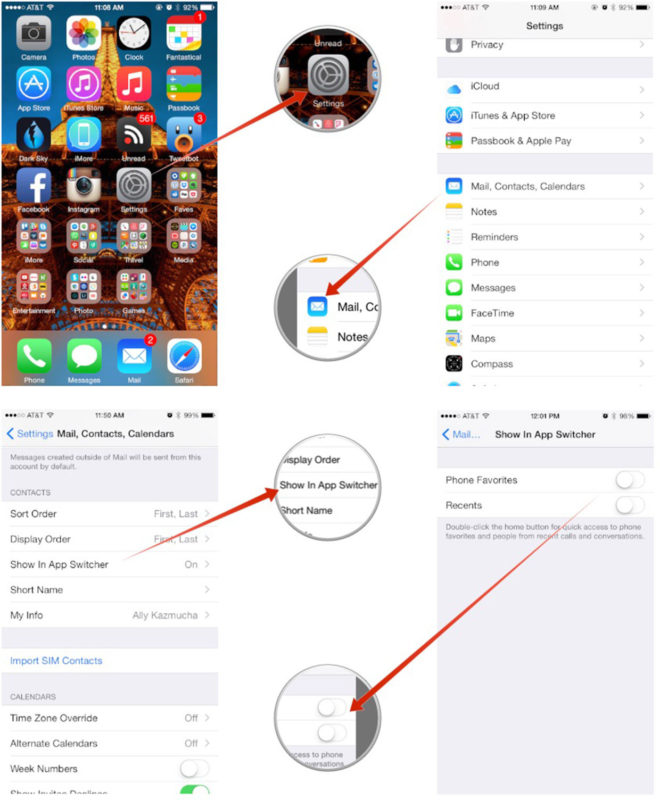 Hide Recent Contacts Ios 812 Bugs