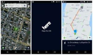 HERE app Interface iOS 8