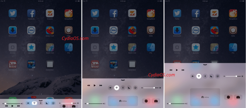 Sectional iOS 8 tweak
