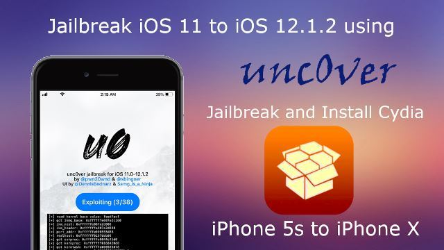 How to Jailbreak iOS 11 to iOS 12.1.2 using unc0ver jailbreak