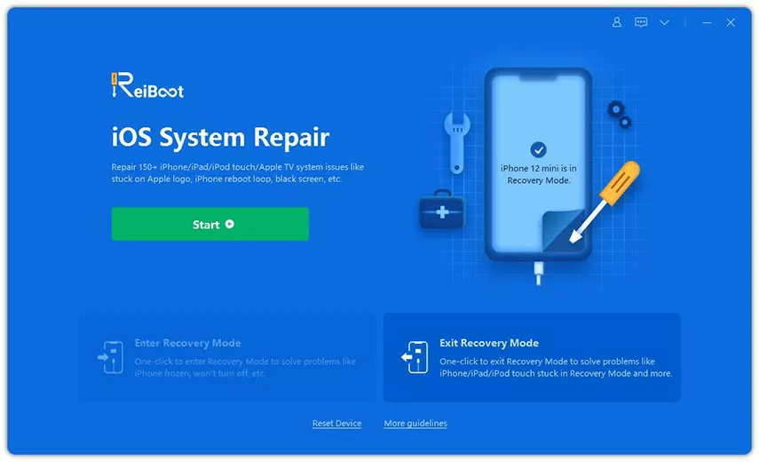 How to exit Recovery Mode using ReiBoot