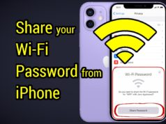 Sharing wifi password using iPhone
