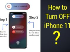 Turning iPhone 11 off