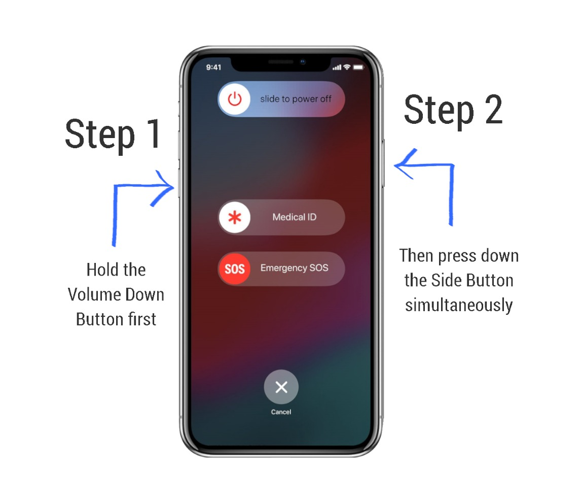 Power off iPhone using buttons
