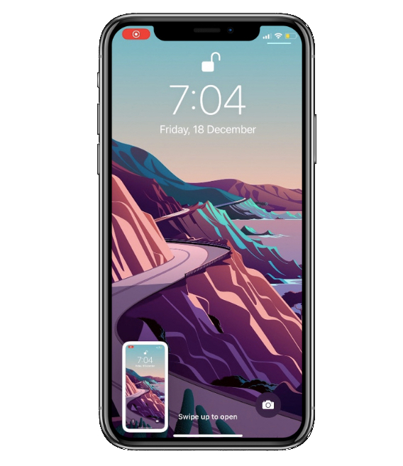 screenshot thumbnail in bottom left corner of iPhone 13